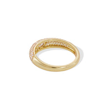 Load image into Gallery viewer, Lara pave with white stone gold vermeil ring