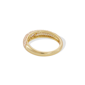 Lara pave with white stone gold vermeil ring