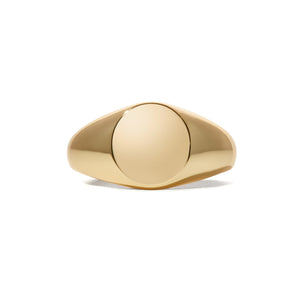 Simple gold vermeil signet ring