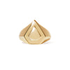 Shield gold vermeil signet ring