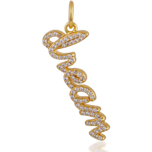 """Dream"" gold plated charm - GALLERIA ARMADORO"
