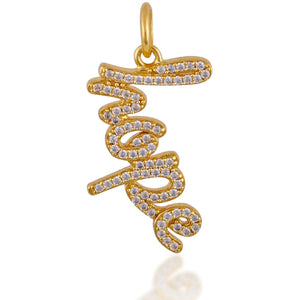 """Hope"" gold plated charm - GALLERIA ARMADORO"