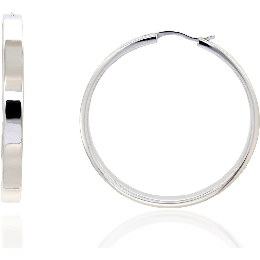 Ava 4 cm sterling silver hoops - GALLERIA ARMADORO
