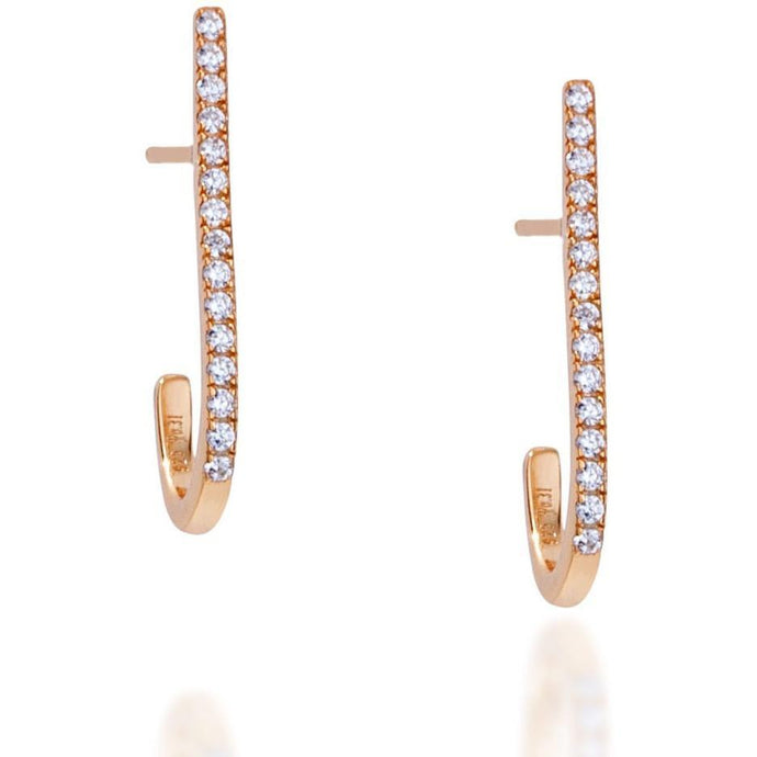Bar gold vermeil earring - GALLERIA ARMADORO