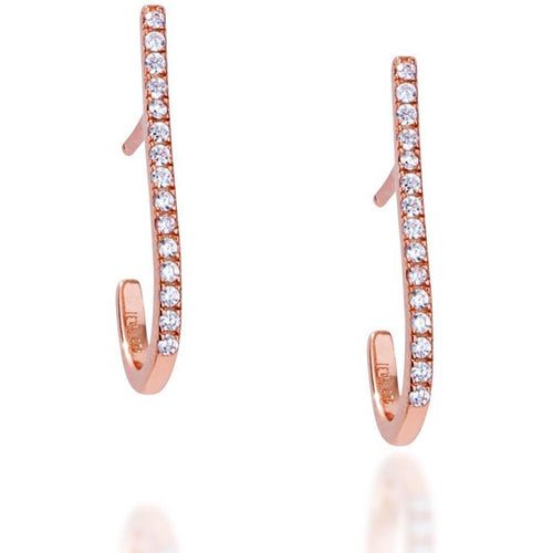 Bar pink gold vermeil earring - GALLERIA ARMADORO