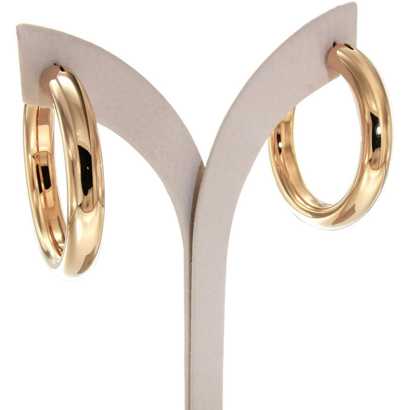 Bella 4 cm gold plated hoops - GALLERIA ARMADORO
