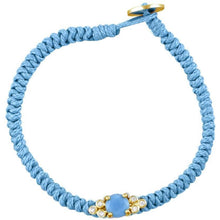 Load image into Gallery viewer, Bubbles gold plated turquoise braided bracelet - GALLERIA ARMADORO