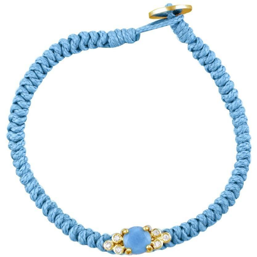 Bubbles gold plated turquoise braided bracelet - GALLERIA ARMADORO
