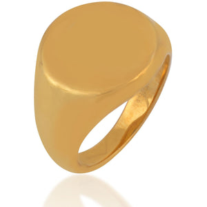 Classic gold plated signet ring - GALLERIA ARMADORO