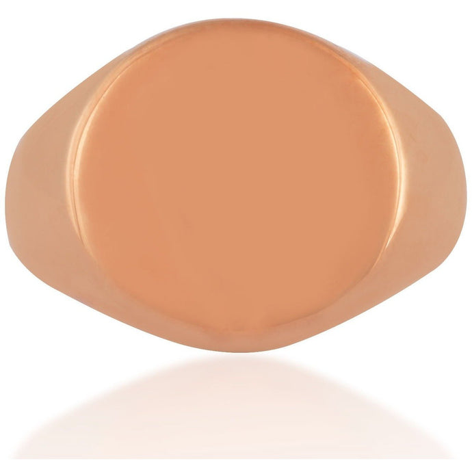 Classic pink gold plated signet ring - GALLERIA ARMADORO