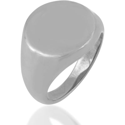 Classic sterling silver signet ring - GALLERIA ARMADORO
