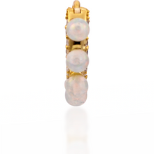 Load image into Gallery viewer, Coronet opal gold vermeil huggie - GALLERIA ARMADORO
