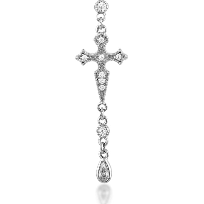Cross sterling silver dots earring - GALLERIA ARMADORO