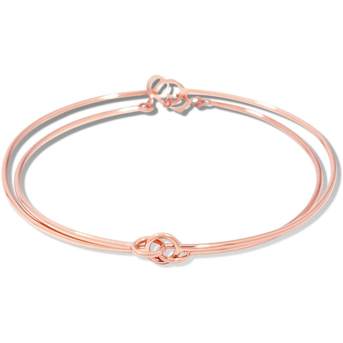 Double charms cuff pink gold vermeil - GALLERIA ARMADORO