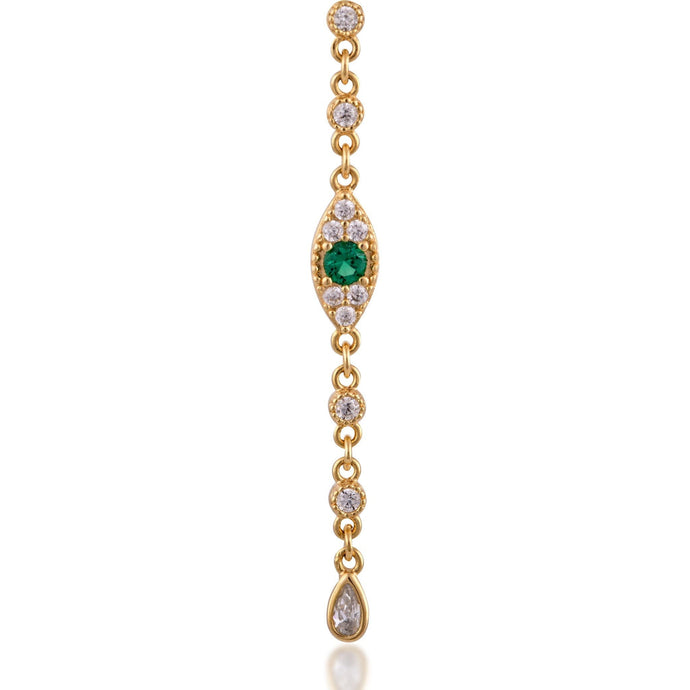 Evil eye gold plated dots earring - GALLERIA ARMADORO