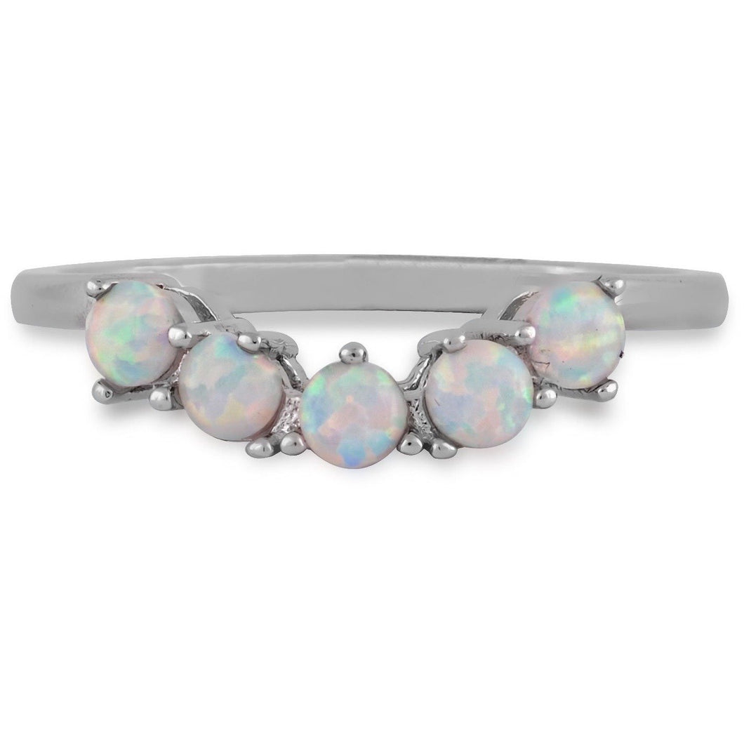 Five opals sterling silver ring - GALLERIA ARMADORO