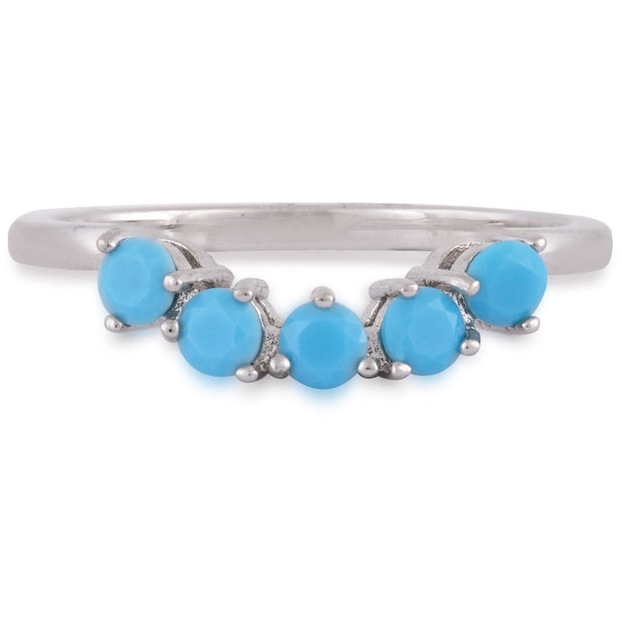 Five turquoise sterling silver ring - GALLERIA ARMADORO