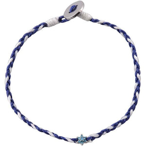 Flower turquoise sterling silver braided bracelet - GALLERIA ARMADORO