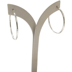 Infinity 4 cm sterling silver hoops - GALLERIA ARMADORO