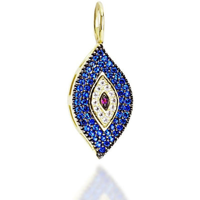 Large evil eye gold plated - GALLERIA ARMADORO
