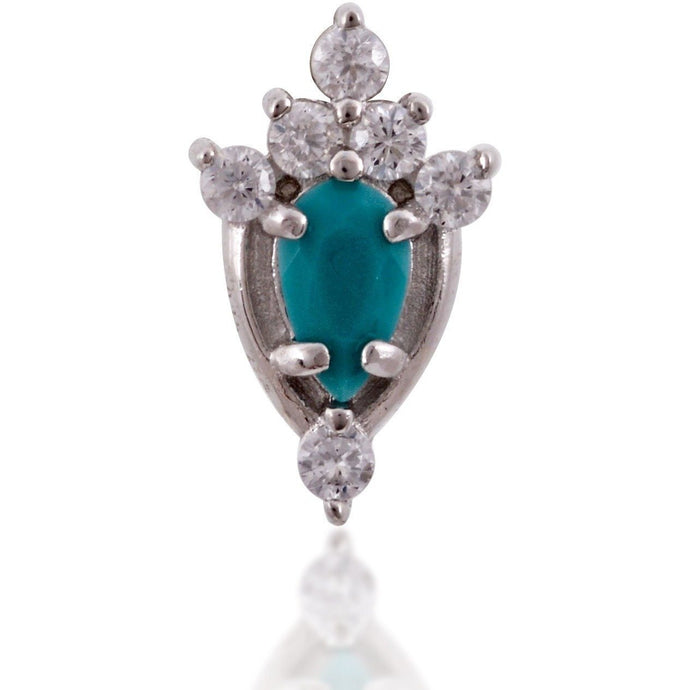 Lilly turquoise sterling silver stud - GALLERIA ARMADORO