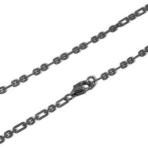 Links black gold vermeil long chain - GALLERIA ARMADORO