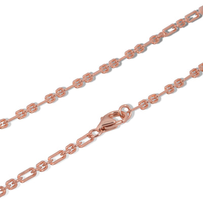 Links pink gold vermeil long chain - GALLERIA ARMADORO
