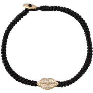 Lips gold plated braided bracelet - GALLERIA ARMADORO