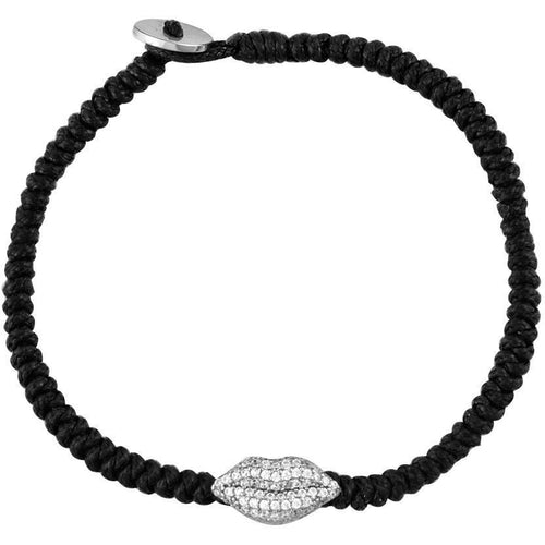 Lips sterling silver braided bracelet - GALLERIA ARMADORO