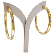 Load image into Gallery viewer, Luna 5 cm gold vermeil hoops - GALLERIA ARMADORO