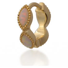 Load image into Gallery viewer, Marquise opal gold vermeil  huggie - GALLERIA ARMADORO