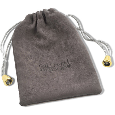 Mini heart gold plated tag charm - GALLERIA ARMADORO