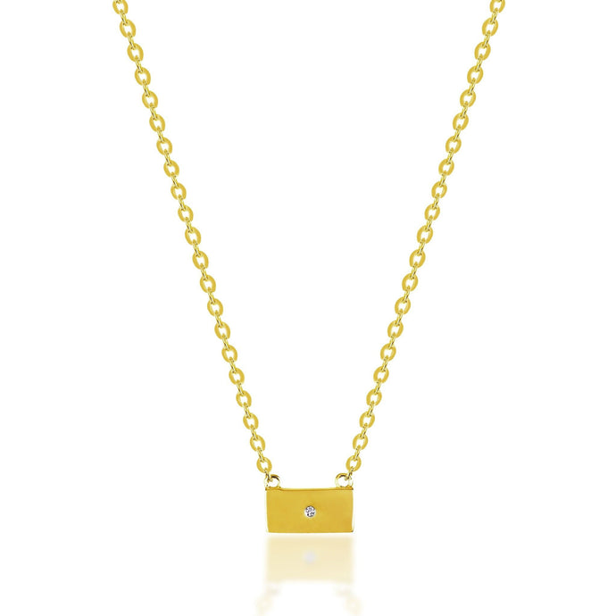 Mini tag gold plated necklace - GALLERIA ARMADORO