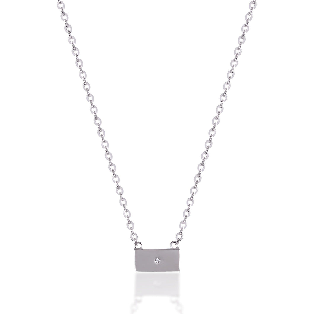 Mini tag sterling silver necklace - GALLERIA ARMADORO
