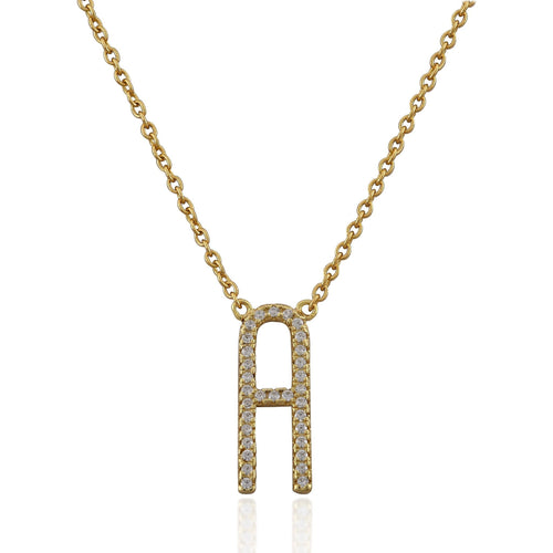 Monogram gold vermeil necklace - GALLERIA ARMADORO