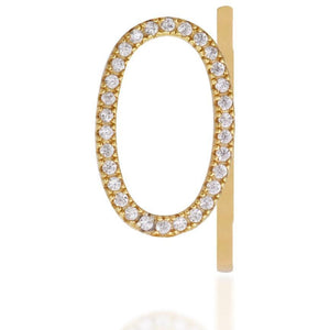 Monogram gold vermeil ring - GALLERIA ARMADORO