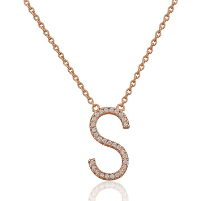 Monogram pink gold vermeil necklace - GALLERIA ARMADORO