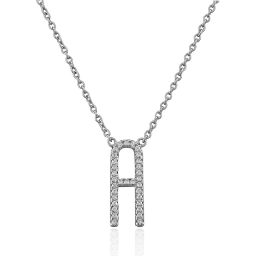 Monogram sterling silver necklace - GALLERIA ARMADORO