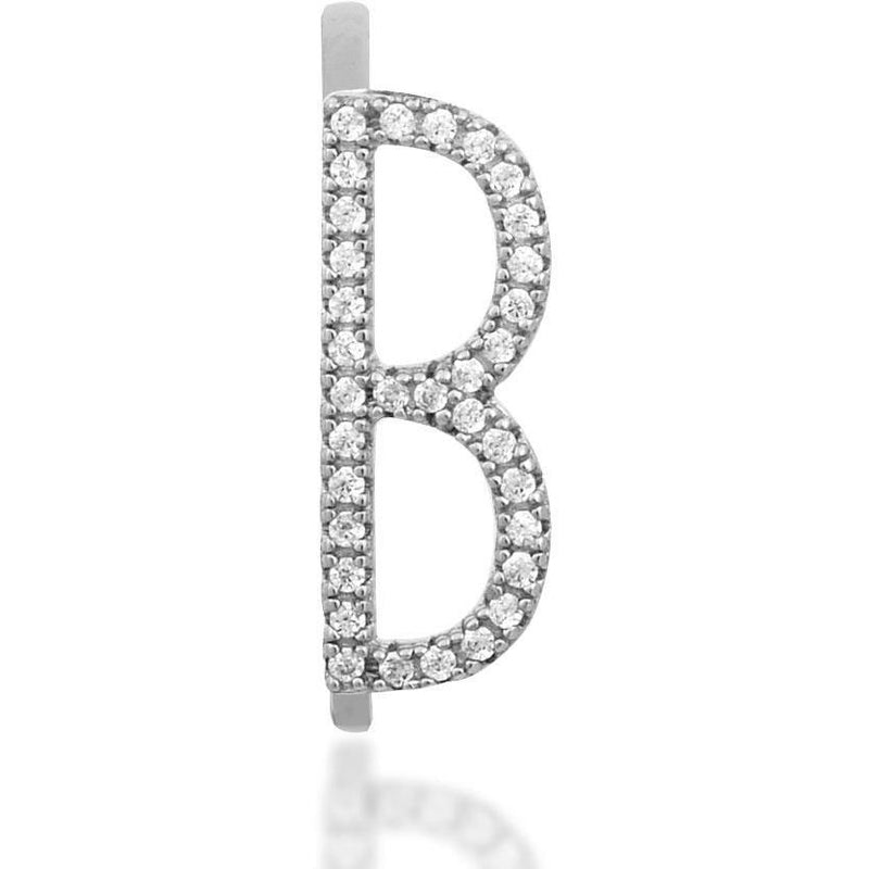 Monogram sterling silver ring - GALLERIA ARMADORO