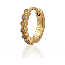 Load image into Gallery viewer, Multi dots opal gold vermeil huggie