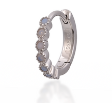 Load image into Gallery viewer, Multi dots opal sterling silver huggie - GALLERIA ARMADORO