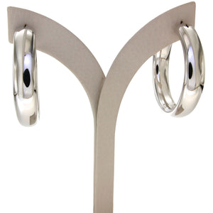 Nanah 4 cm sterling silver hoops
