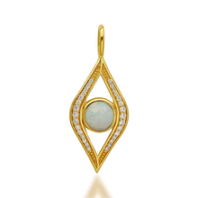 Load image into Gallery viewer, Opal evil eye gold vermeil charm - GALLERIA ARMADORO
