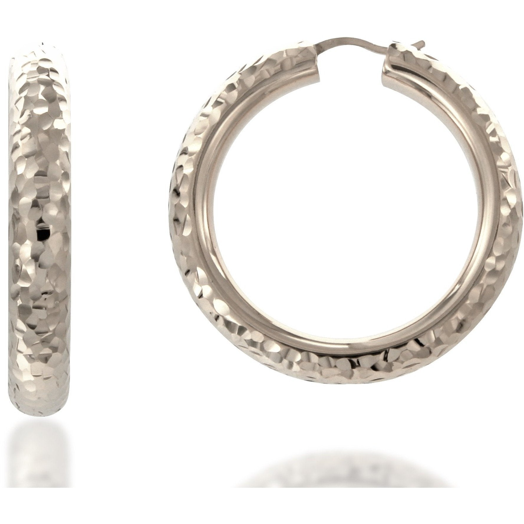 32a4238ae Load image into Gallery viewer, Rifa 4 cm sterling silver hoops - GALLERIA  ARMADORO ...