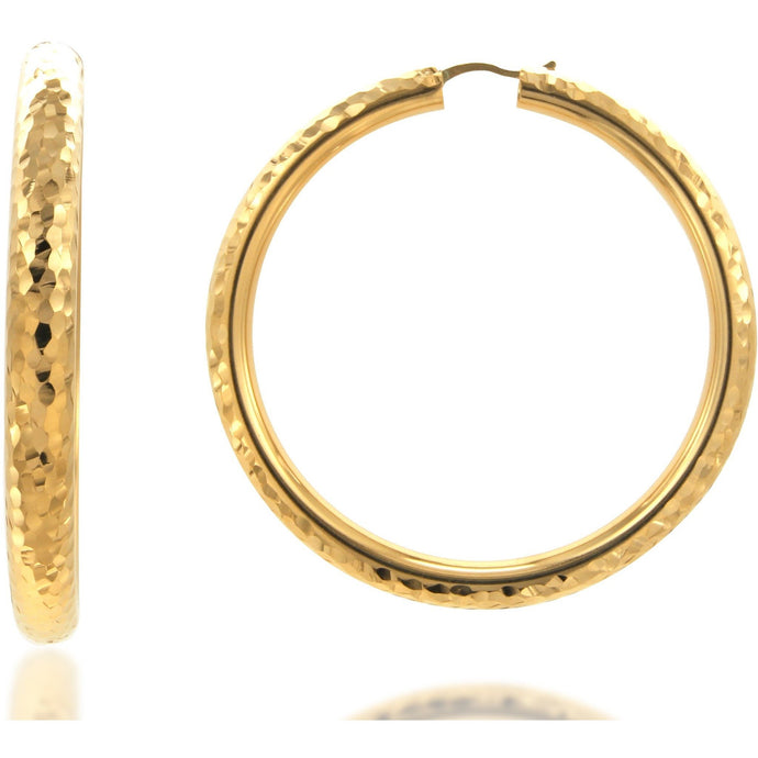 Rifa 6 cm gold plated hoops - GALLERIA ARMADORO