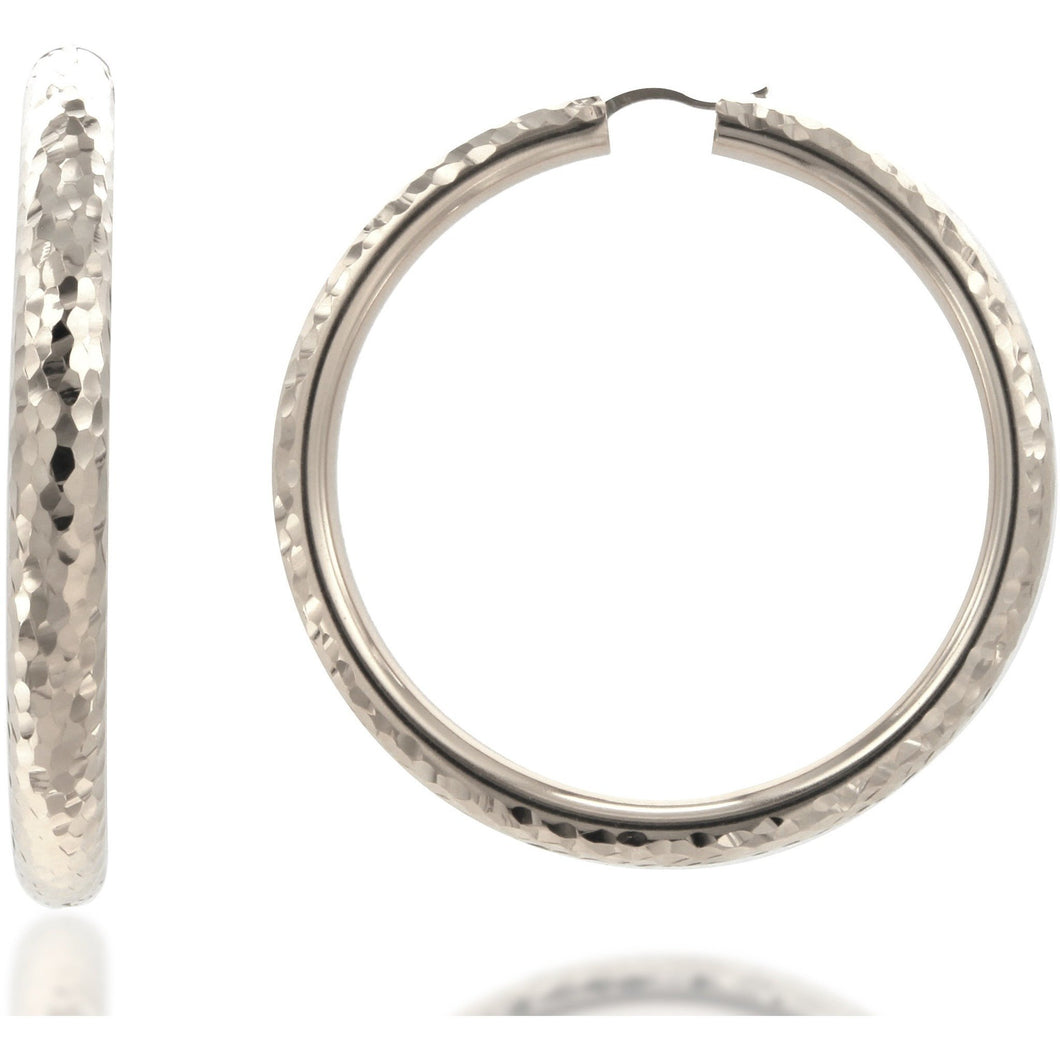Rifa 6 cm sterling silver hoops - GALLERIA ARMADORO