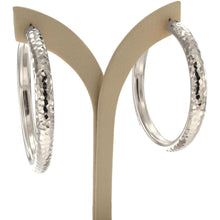 Load image into Gallery viewer, Rifa 6 cm sterling silver hoops