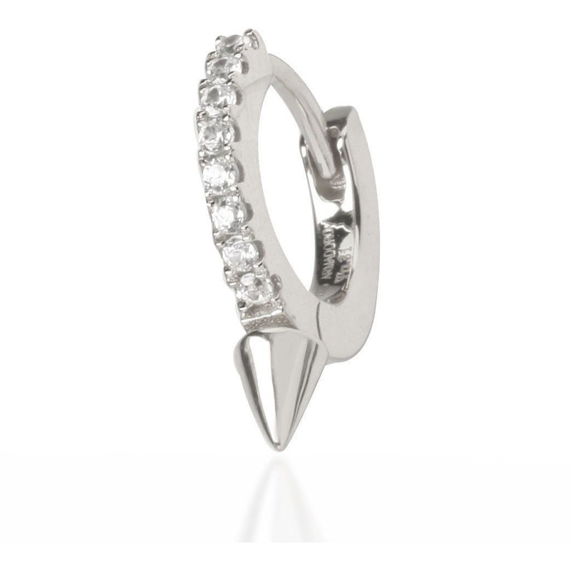 Single cone sterling silver huggie - GALLERIA ARMADORO