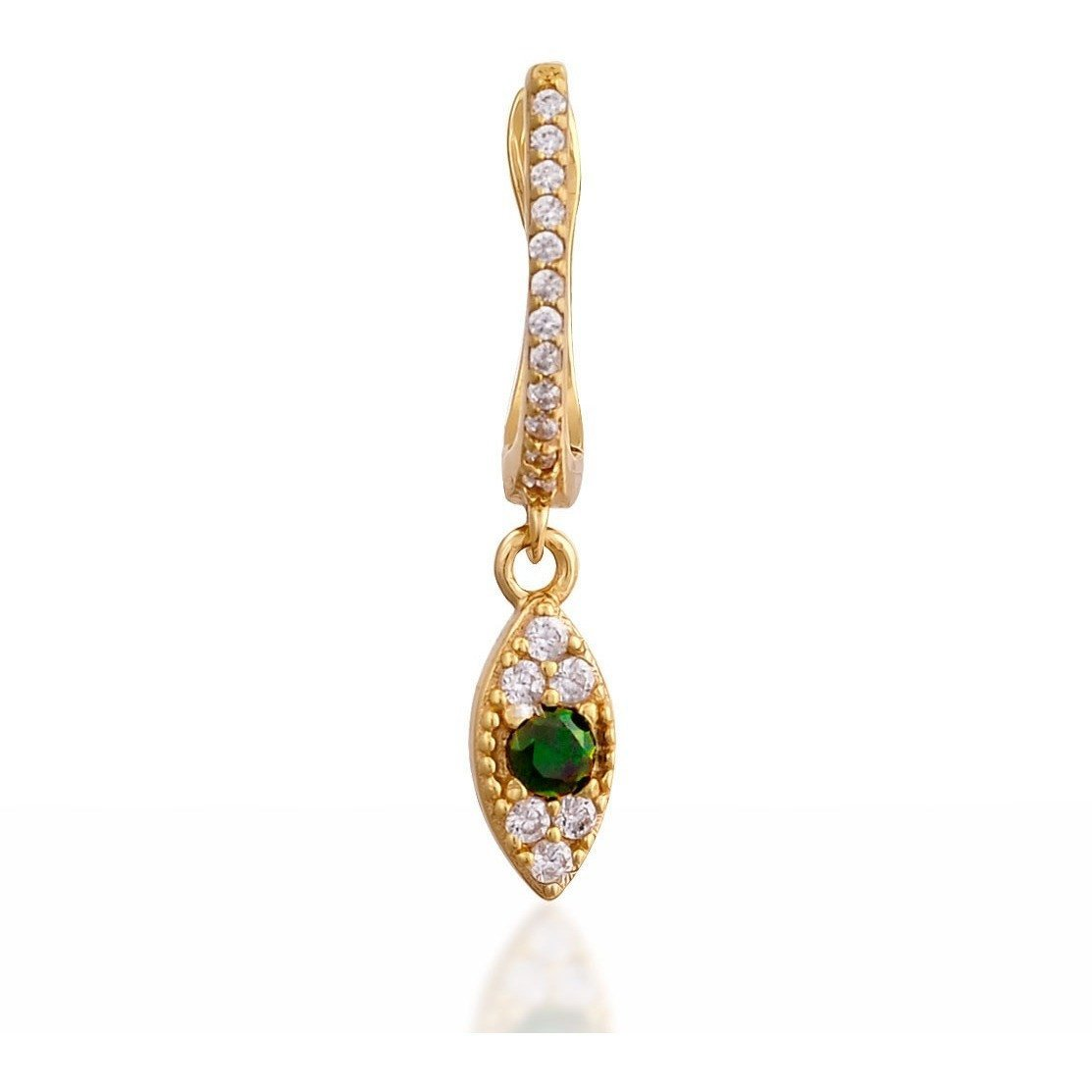 Single evil eye gold vermeil earring - GALLERIA ARMADORO
