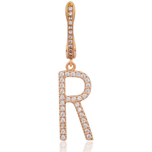 Single pink gold vermeil monogram earring - GALLERIA ARMADORO